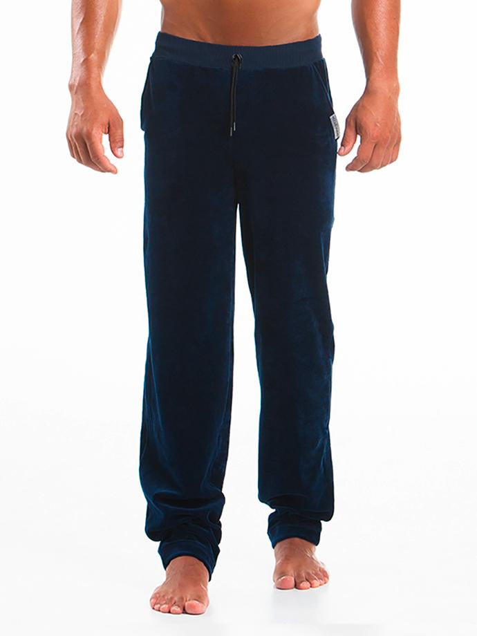 Spodnie dresowe Modus Vivendi - Wolf Lounge - granatowe