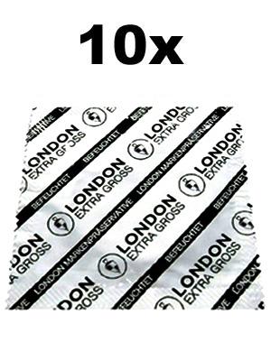 Duże prezerwatywy London - XL 10 szt.