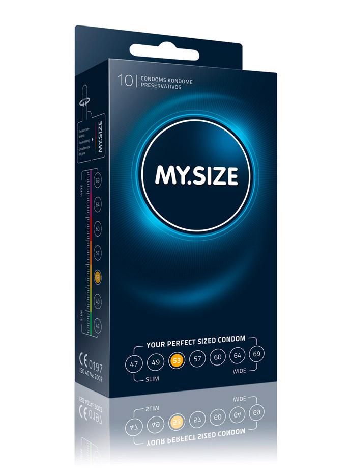 Prezerwatywy na wymiar 10 x MY.SIZE - rozmiar 53