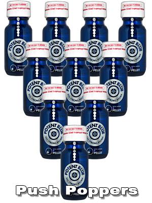 Zestaw poppersów 10 x Potent Blue