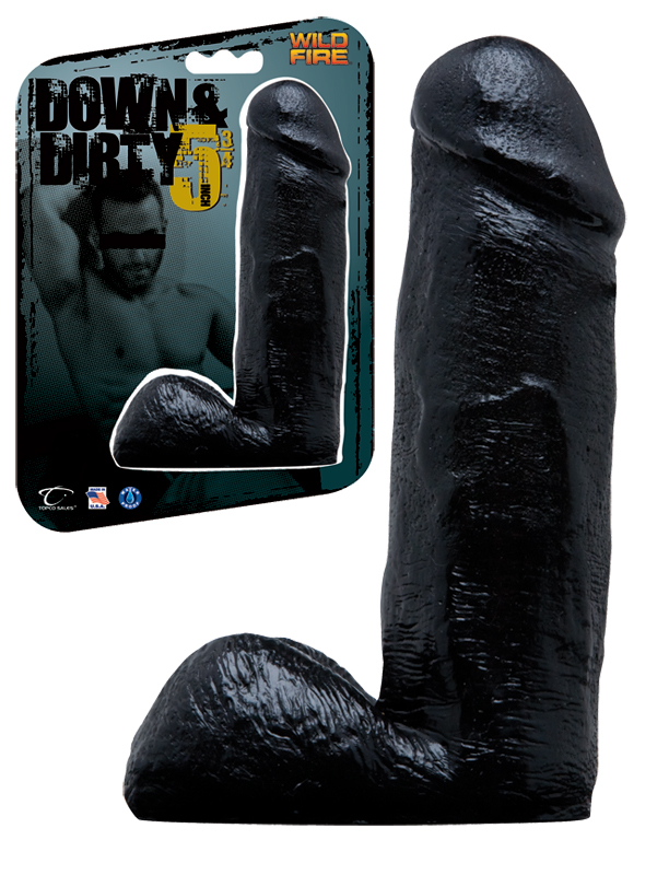Dildo Wildfire Down and Dirty 16,5 cm - czarne