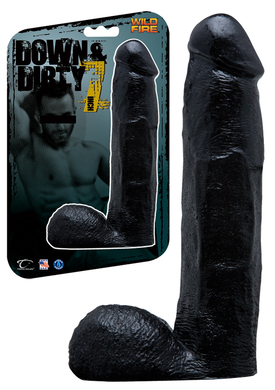 Dildo Wildfire Down and Dirty 20,5 cm - czarne