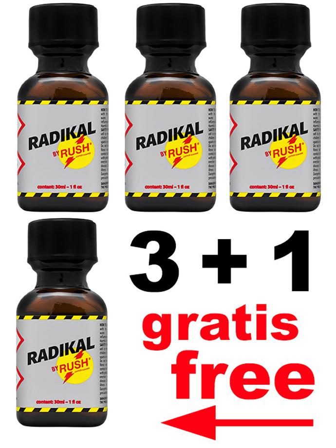 3 + 1 RADIKAL RUSH kwadratowa butelka