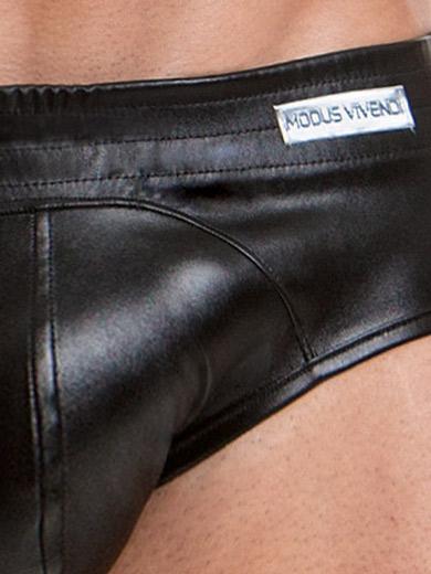 Modus Vivendi Jockstrap - Leather Bottomless - czarny