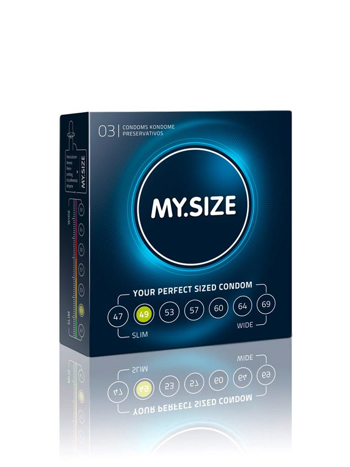 Prezerwatywy na wymiar 3 x MY.SIZE - rozmiar 49