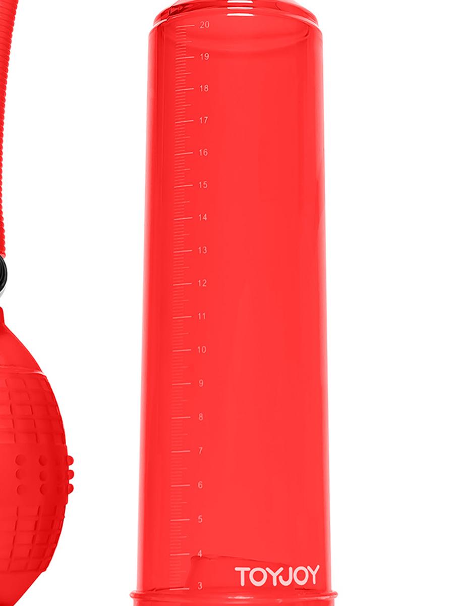 Pompka do penisa Power Pump Rock Hard czerwona