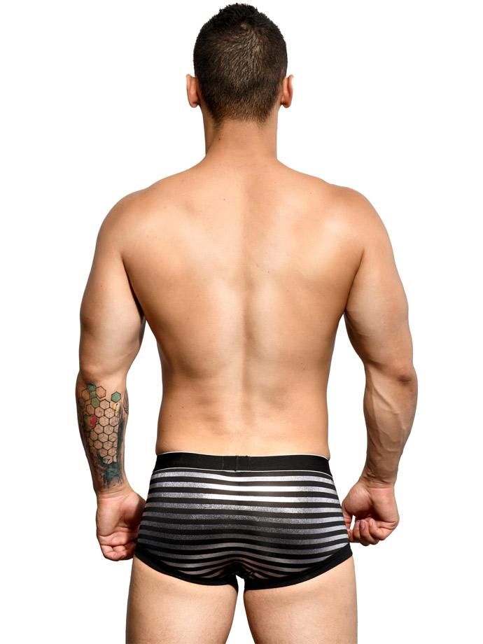 Andrew Christian bokserki - MASSIVE Glam Stripe - czarne