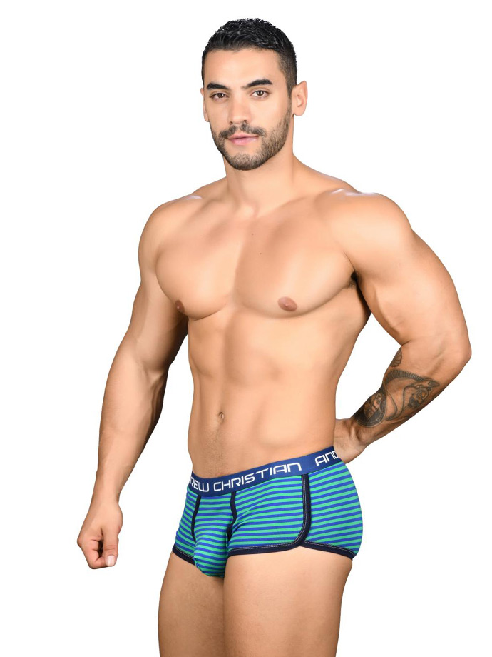Andrew Christian - Academy Stripe Boxer Almost Naked