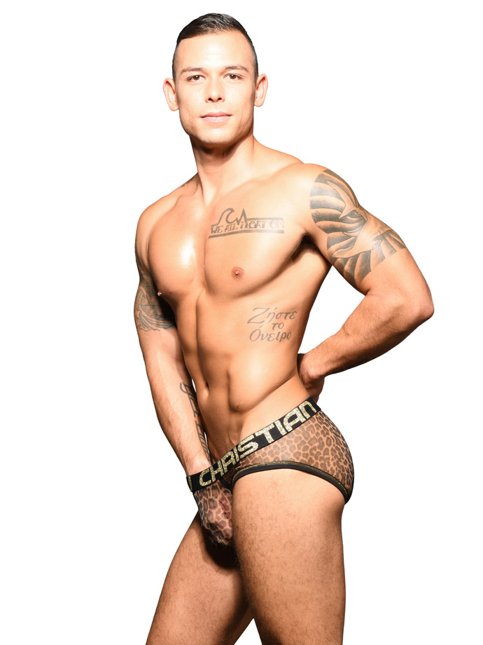 Andrew Christian - Sheer Leopard Brief Almost Naked