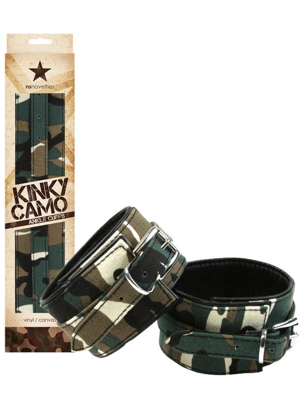 Kajdanki na nogi Kinky Camo - moro