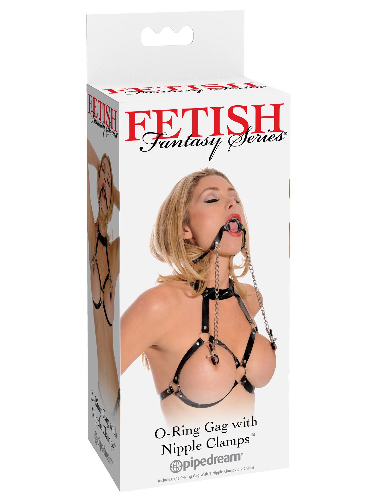 Fetish Fantasy - O-Ring knebel i zaciski sutków