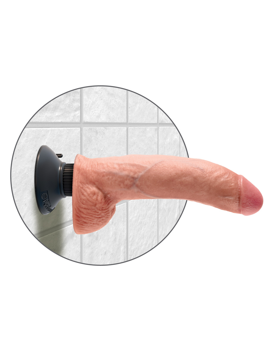 Wibrator King Cock - 19 cm - Cock with Balls - cielisty