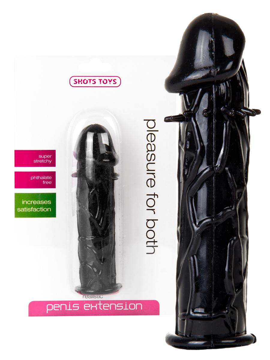 Przedłużacz penisa - czarny