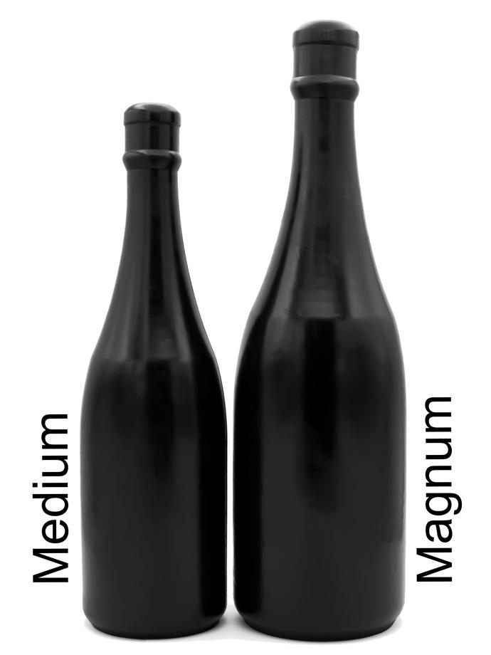 Korek analny All Black Dildo 90 - Butelka szampana Medium
