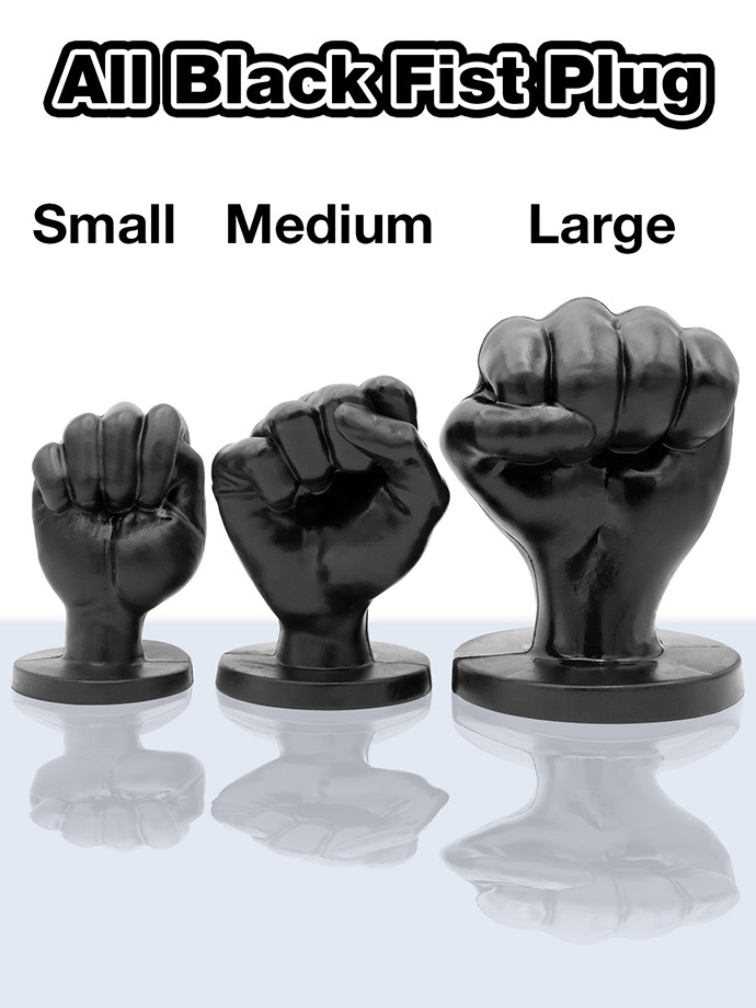 All Black Fist Plug 93 - Medium