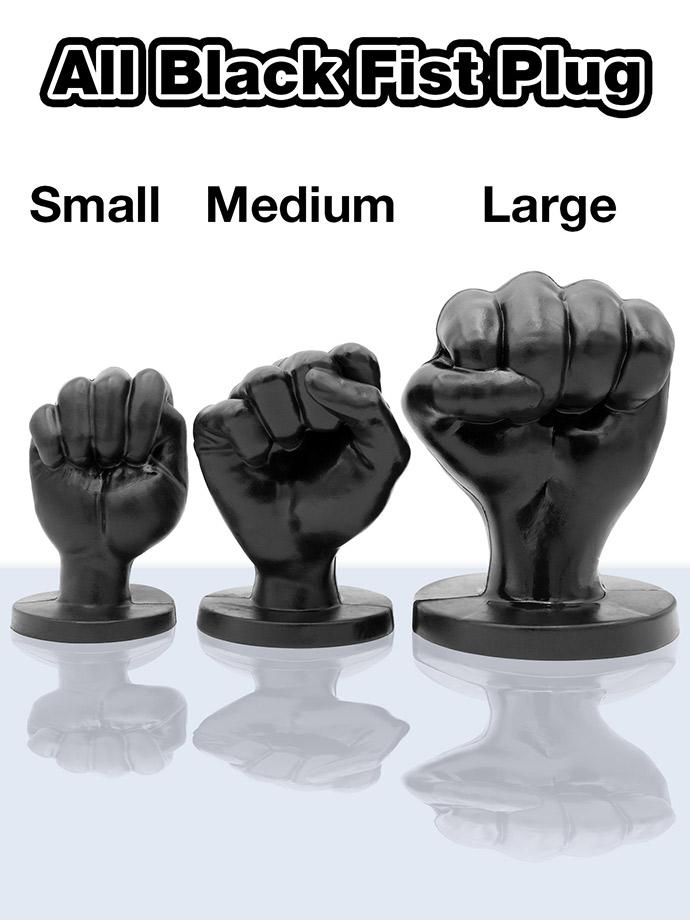 All Black Fist Plug 94 - Large