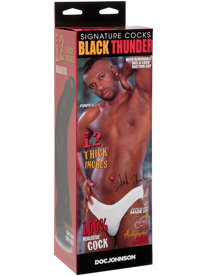 Dildo aktora porno - Black Thunder - replika