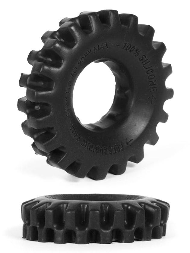 Pierścień na penisa Burning Wheels - CK03 czarny