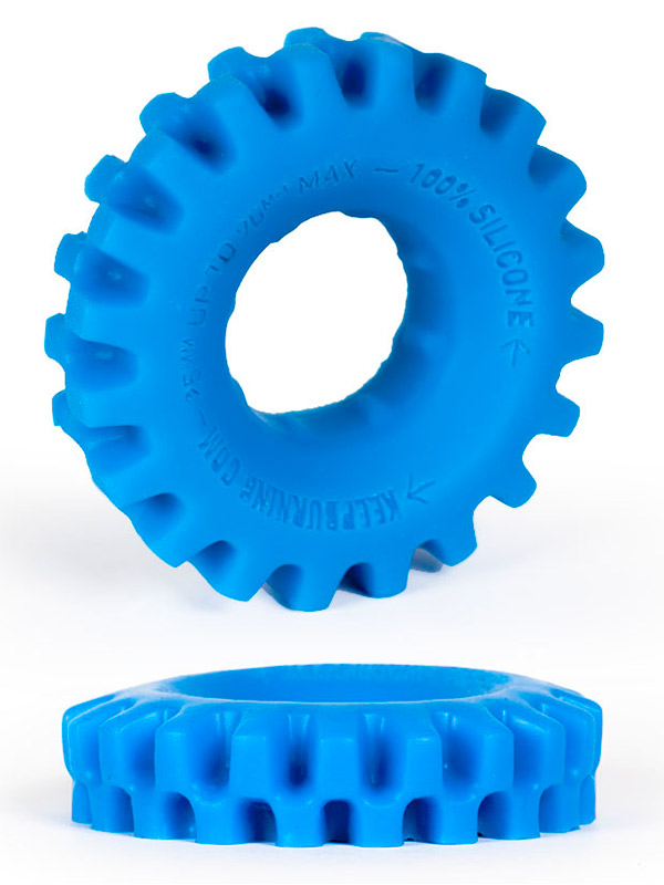 Pierścień na penisa Burning Wheels - CK03 niebieski