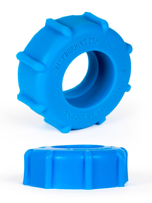 Pierścień na penisa Burning Wheels - CK08 niebieski