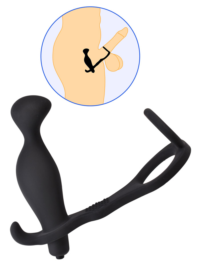Silicone Vibrating Prostate Stimulator with Cockring