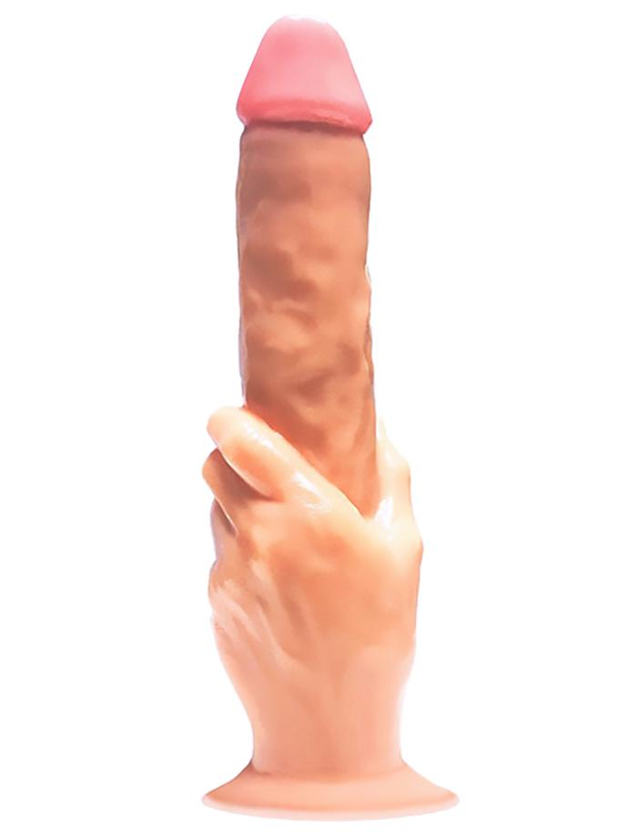 Wielkie dildo analne z uchwytem w kształcie dłoni