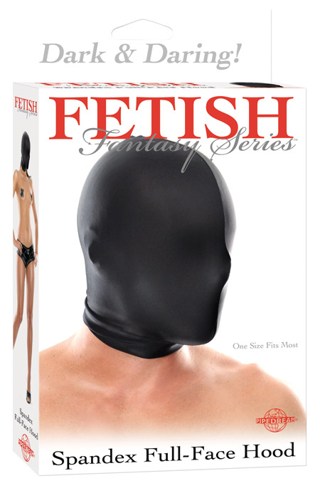 Fetish Fantasy - Spandex Full Face Hood - czarna