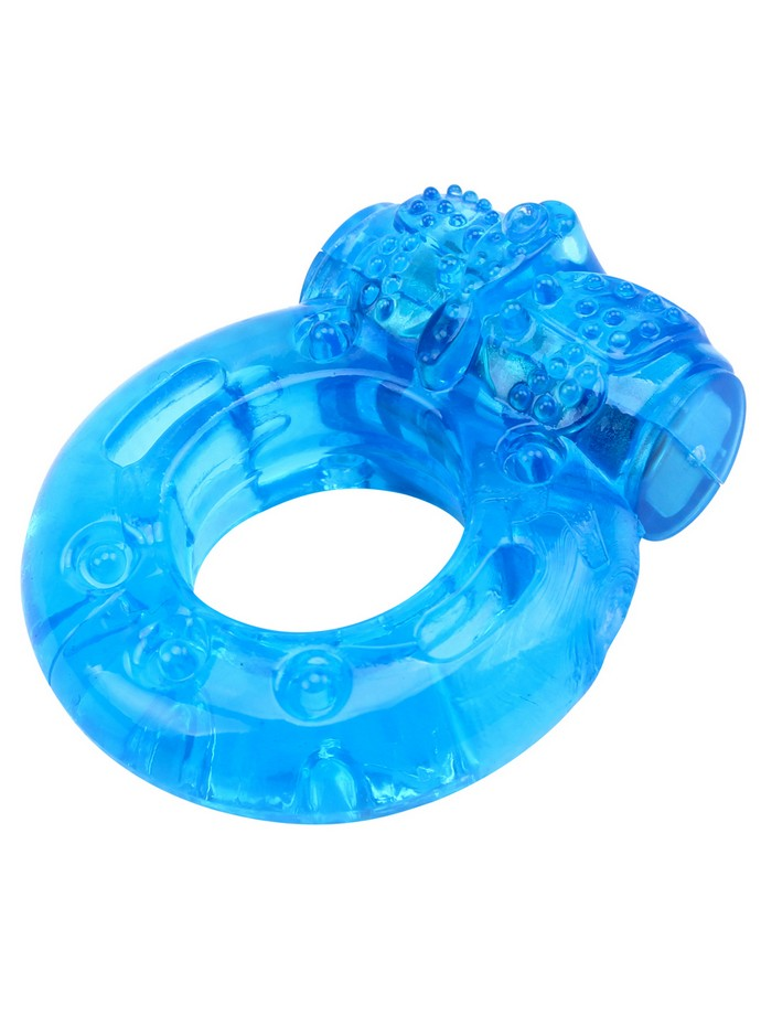 Pierścień erekcyjny Butterfly przezroczysty niebieski