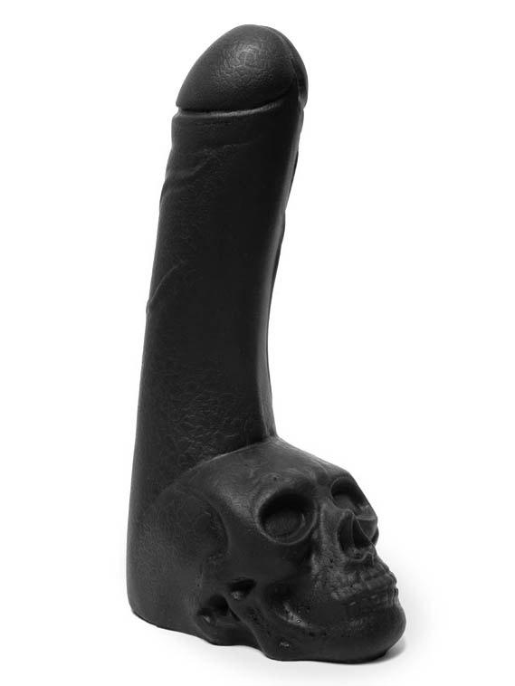 Czarne dildo Keep Burning - czaszka