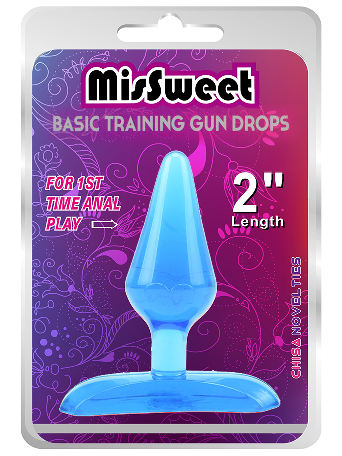 Plug Analny MisSweet Gun Drops - Niebieski