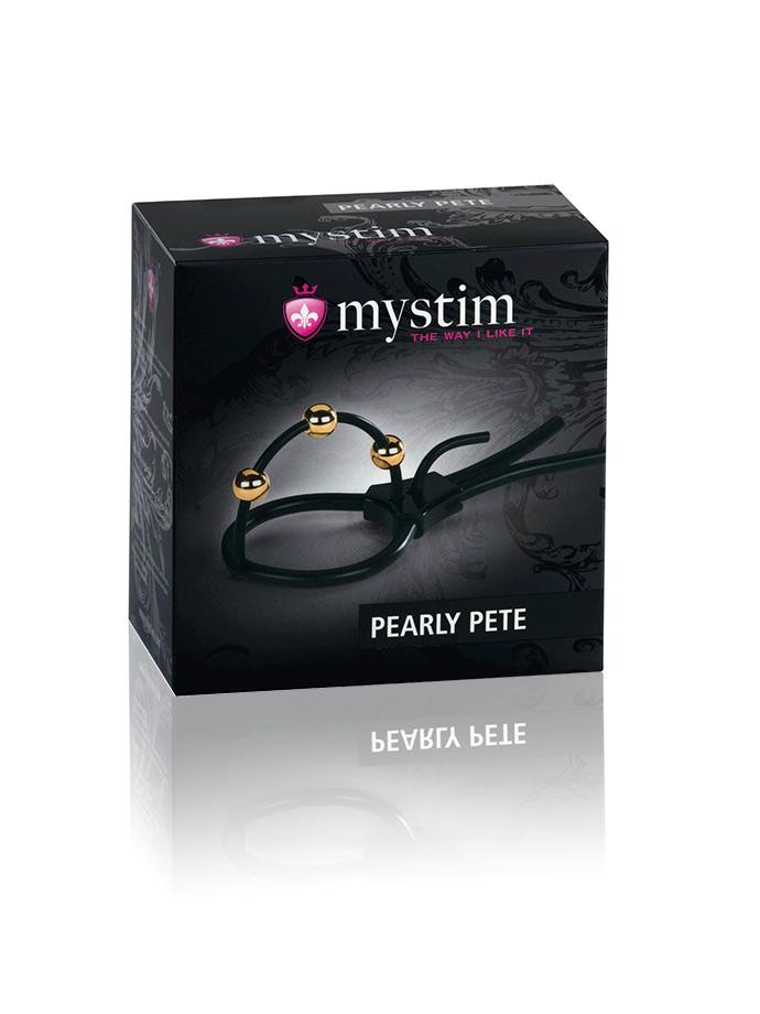 Pierścień erekcyjny Mystim Pearly Pete elektrosex