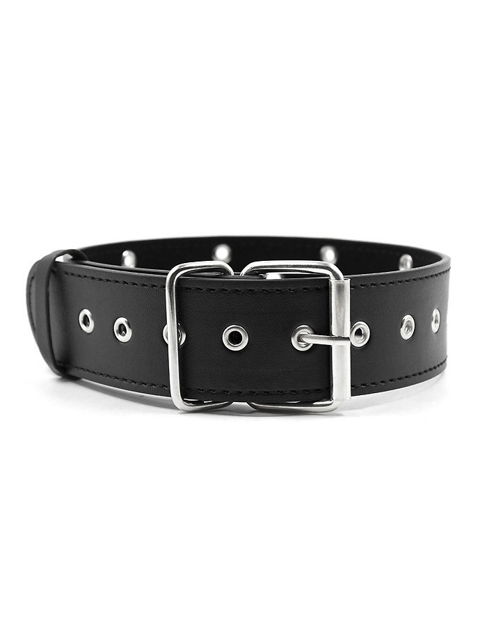 Collar with Rivets - Black