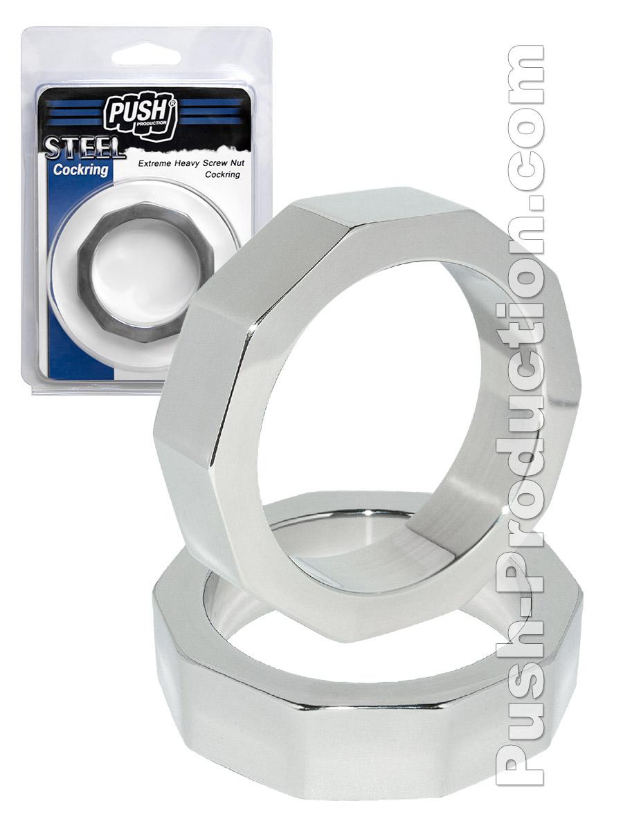 Pierścień erekcyjny Push Steel - Extreme Heavy Screw