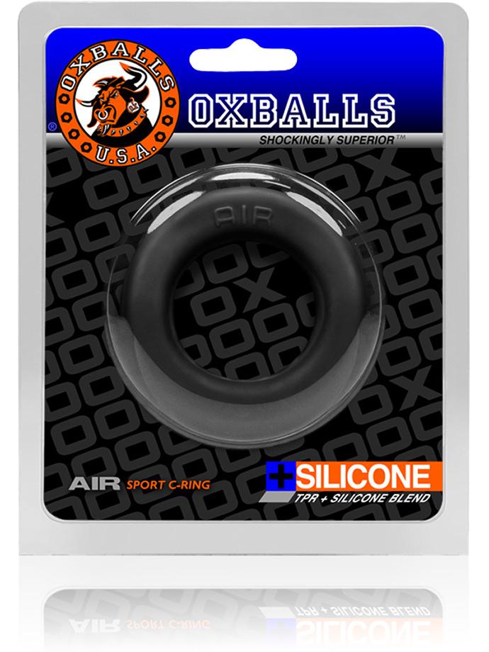 Pierścień erekcyjny - Air-Hole - Oxballs - czarny