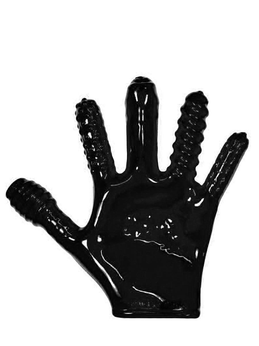 Rękawica do stymulacji analnej Finger-Fuck - czarna