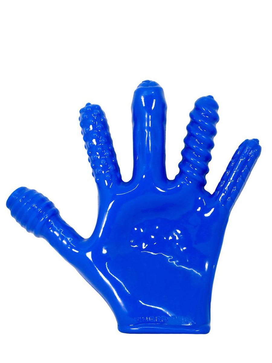 Rękawica do stymulacji analnej Finger-Fuck - niebieska