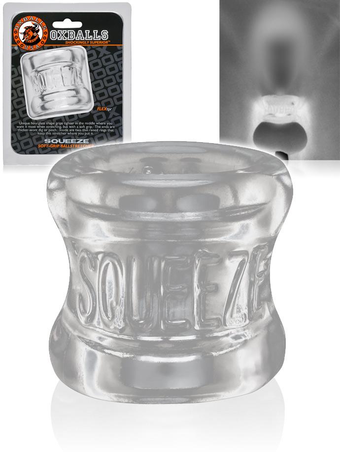Zacisk na jądra Oxballs Squeeze - przezroczysty