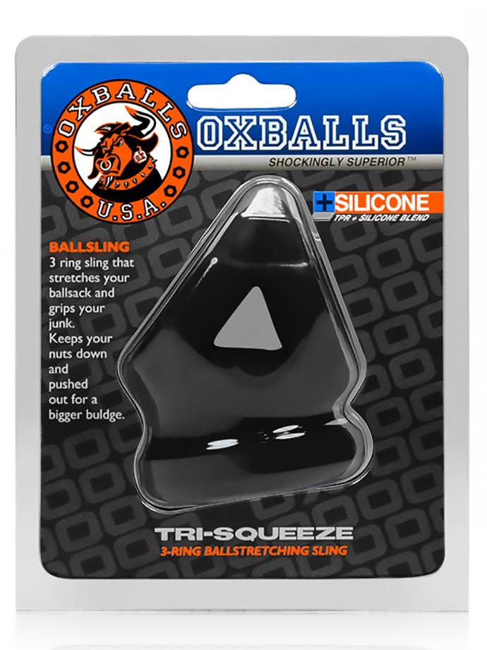Pierścień erekcyjny - Tri-Squeeze - Oxballs - czarny