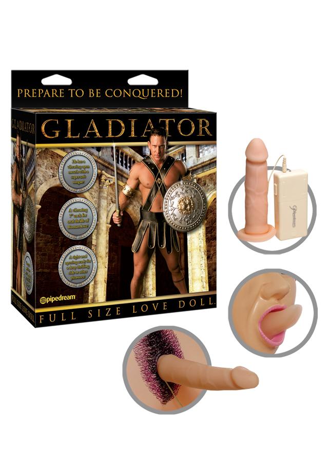 Gladiator Wibrująca lalka dmuchana