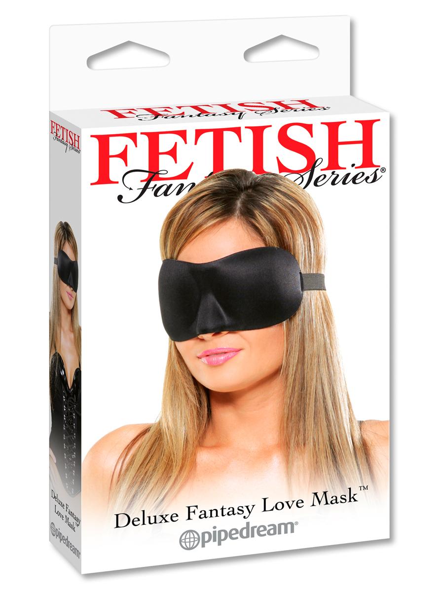 Maska na oczy BDSM Deluxe Fantasy - czarna