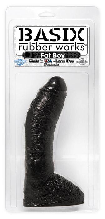 Basix 24 cm Fat Boy - czarne dildo