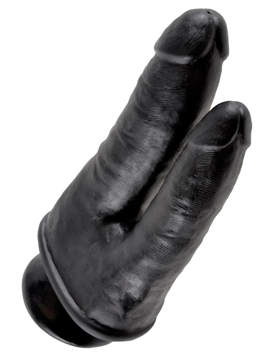 Podwójne dildo King Cock - czarne