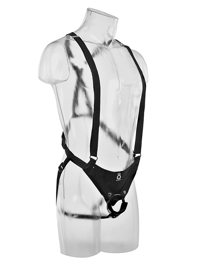 King Cock - 12 inch Hollow Strap-On Suspender System Light Skin