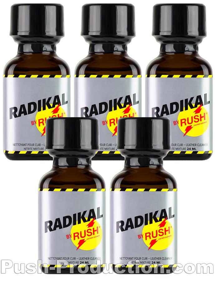 Poppersy 5 x RADIKAL RUSH kwadratowa butelka 24 ml