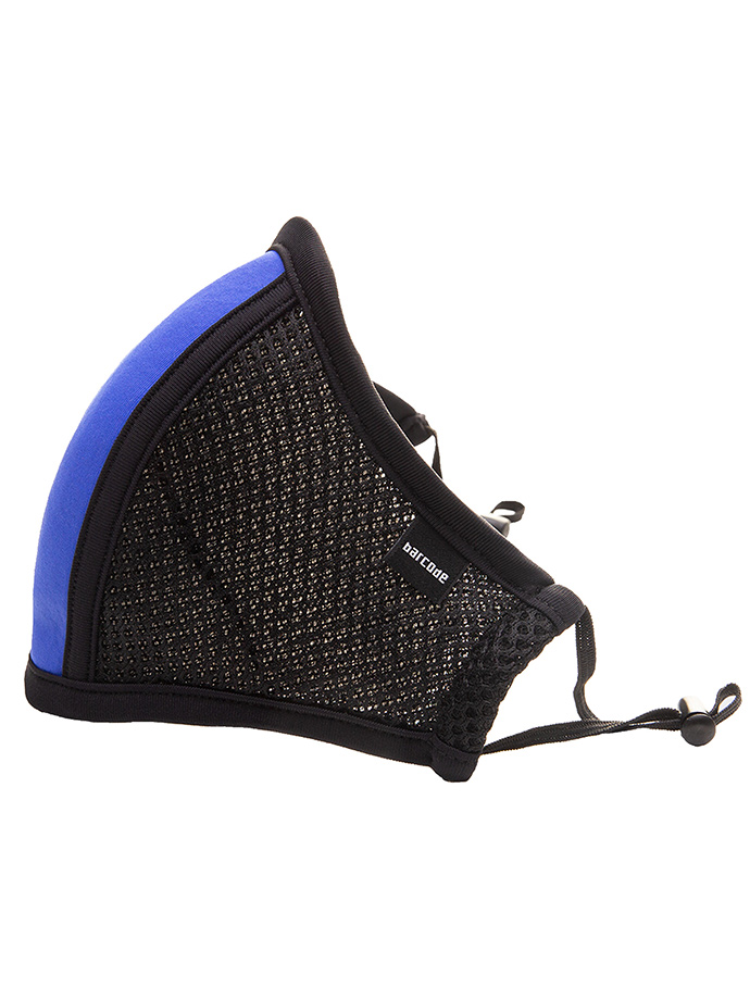 Barcode Berlin - Face Mask with Filter - Black/blue