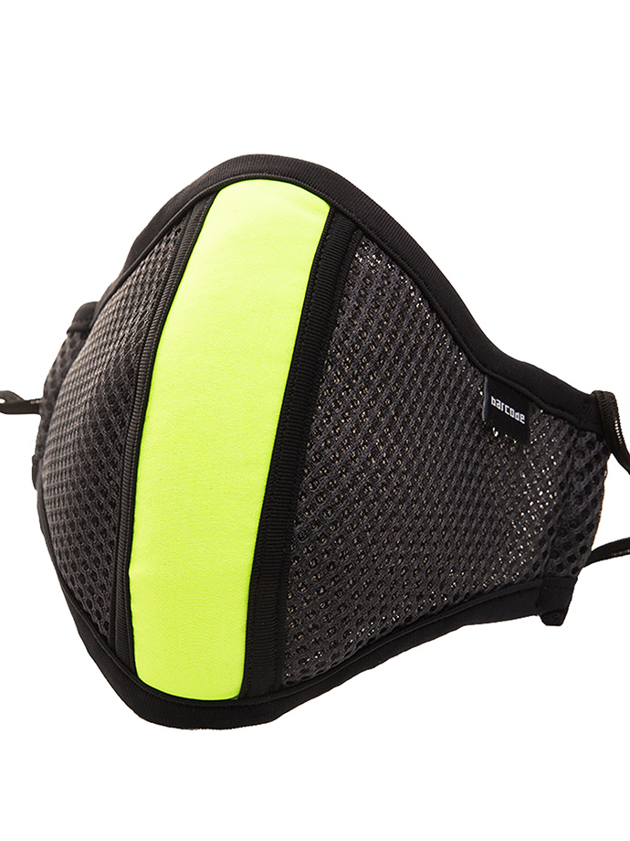 Barcode Berlin - Face Mask with Filter - Grey/neon yellow