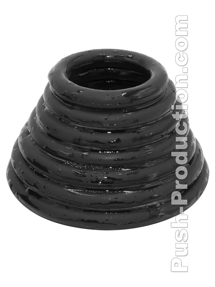 Pierścienie Push Monster - Black Rubber 7 Ring Set