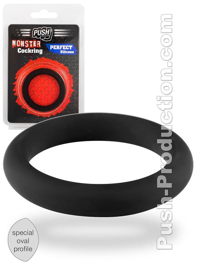 Pierścień erekcyjny Push Monster - Perfect Silicone