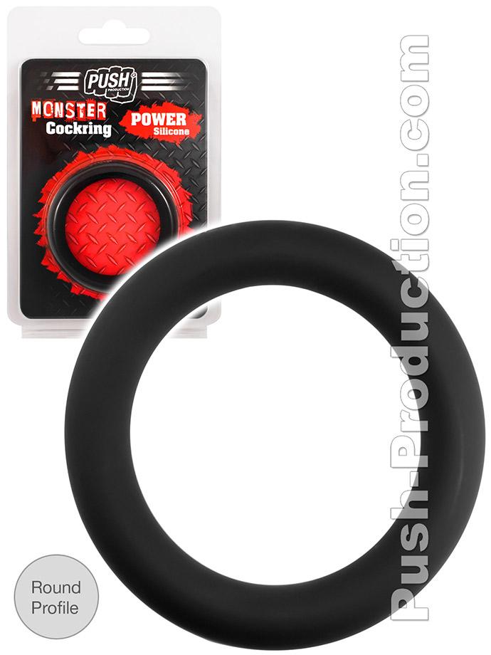 Pierścień erekcyjny Push Monster - Power Silicone