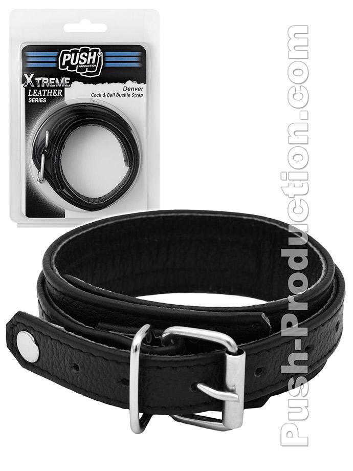 Pierścień erekcyjny Push Xtreme Leather - Denver